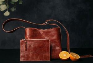 Pinatex organizer bag from Blush Handbags